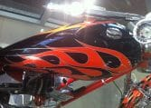BigDog K9 Flames orange-schwarz 300 Custom Chopper