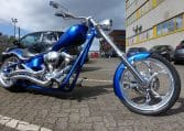 Candyblaue K9 Custom Chopper Big Dog Motorcycles
