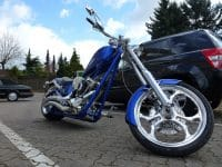 Big Dog K9 Custom Chopper Candyblue