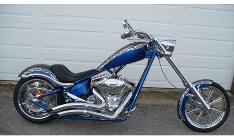 Big Dog K9 15 Jahre Edition silber-blaumetallic 300 Chopper