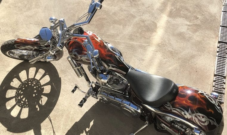 Tribal & Flames Mastiff Big Dog Motorcycles