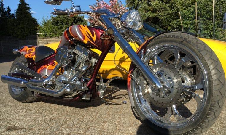 Rot-Silber American Ironhorse Slammer SZ selten