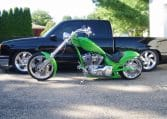 Giftgrüner American Ironhorse Texas Chopper 2008