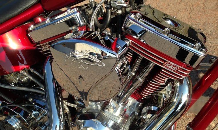 American Ironhorse Texas Chopper candyred