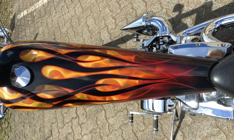 RealFlames American Ironhorse Texas Custom Chopper