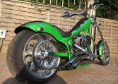 American Ironhorse TX Chopper Giftgrün Schlangenoptik
