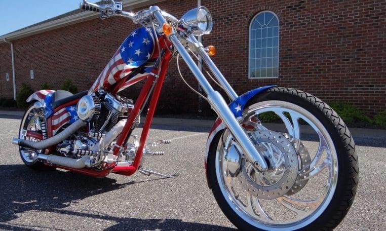 Ironhorse Texas Chopper USA Flagge