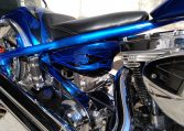 Big Dog Ridgeback 330 candyblue-black Flames
