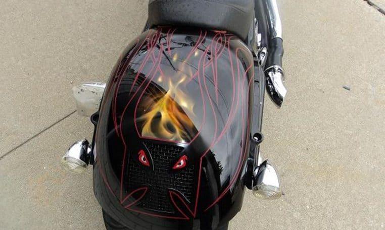 Pinstripe Big Dog Motorcycles K9 Custom Chopper