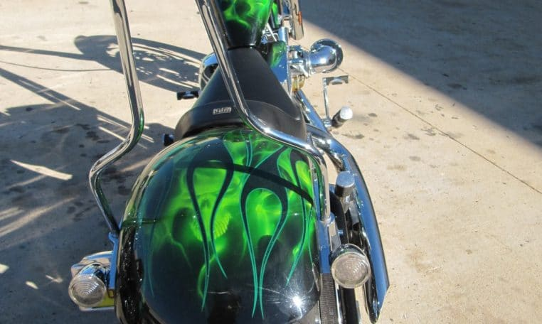 Big Dog Motorcycles K9 Edition Green Custom Chopper