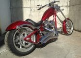 candyred-black Flames K9 Big Dog Motorcycles Custom