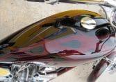 Schwarz-rote Big Dog K9 Custom Chopper