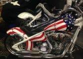 Big Dog Pitbull USA Flagge Airbrush original