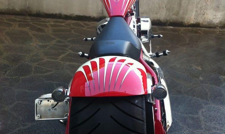 Big Dog Motorcycles Pitbull Eightball Airbrush