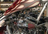 CherryRed-Silverflames Ironhorse Texas Chopper 111 SS