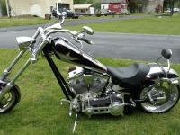 Ironhorse Texas Chopper Silber-schwarzblau metallic
