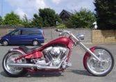 American Ironhorse Tejas Candyred Custom