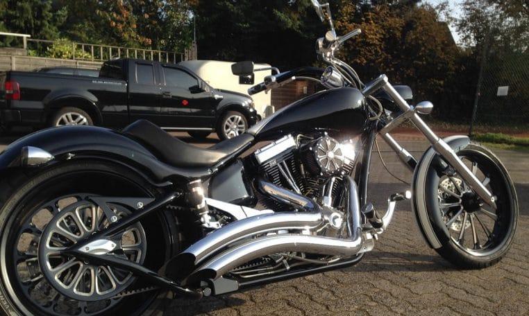 Schwarze Edition Harley