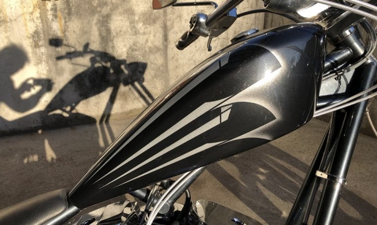 Big Dog K9 Anthrazit -Silber Chopper