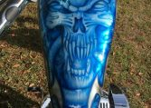 Big Dog Motorcycle K 9 Alien Airbrush