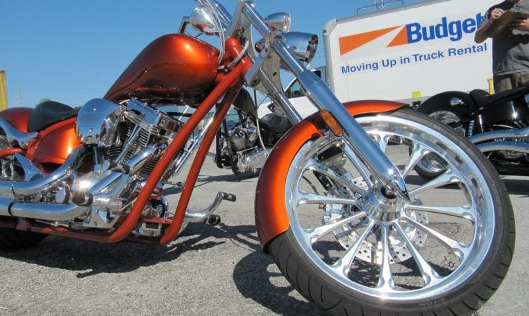 Big Dog Mastiff candy-Burning-orange Chopper