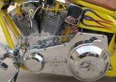 American Ironhorse Slammer Gelb-Violett-Flames
