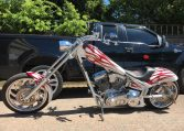 American Ironhorse Texas Chopper Weiss-rot Flammen